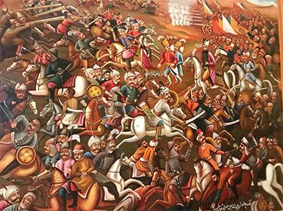 «جنگ چالدران» اثر صادق نقاشباشی